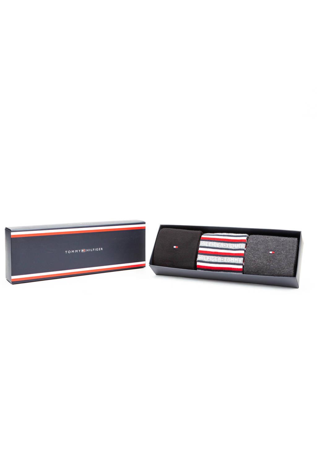 Tommy Hilfiger giftbox sokken zwart (set van 3), Zwart
