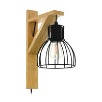EGLO wandlamp Rampside 1, natuur/zwart