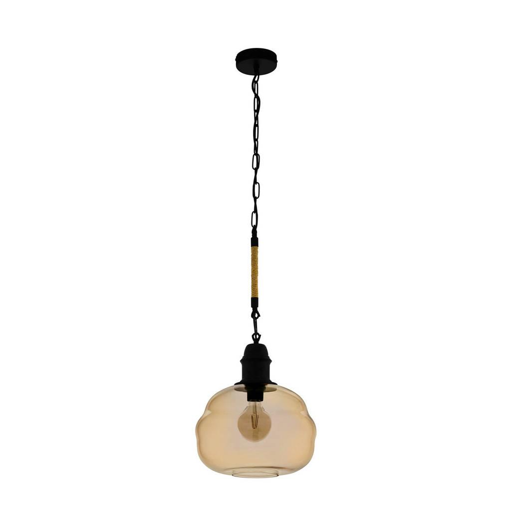 EGLO hanglamp Marysville, zwart/amber