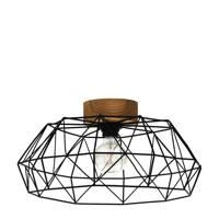 EGLO plafondlamp Padstow, zwart/natuur
