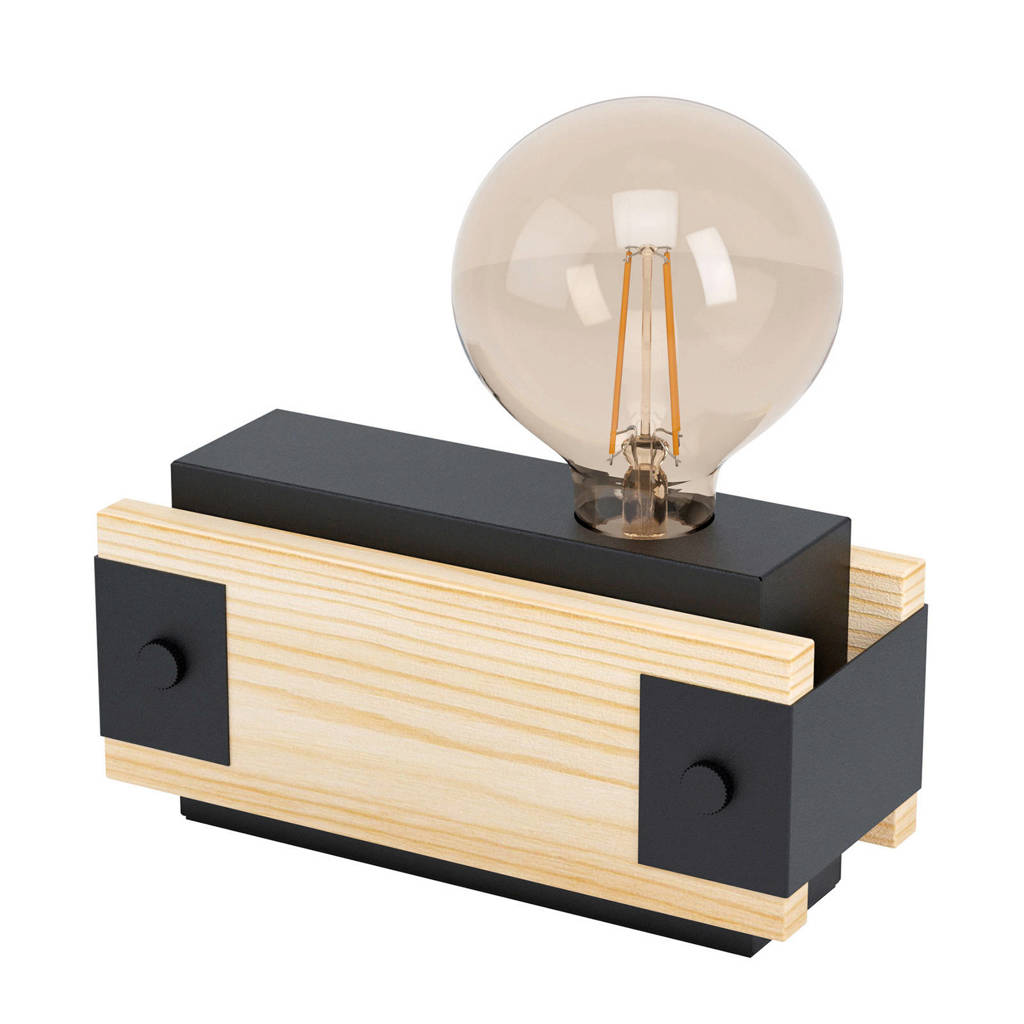 EGLO tafellamp Layham, Bruin/zwart