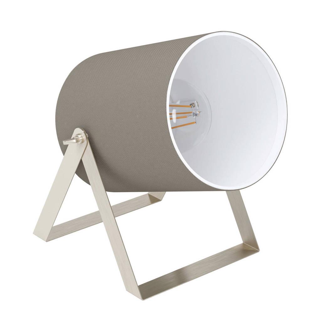 EGLO tafellamp Villabate 1, nikkel-mat/taupe