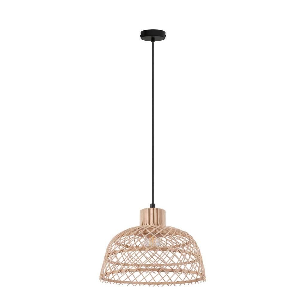 EGLO hanglamp Ausnby, zwart/natuur