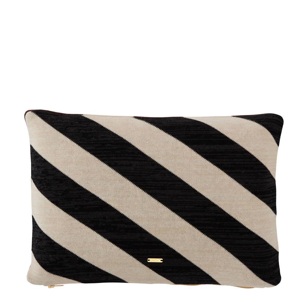 OYOY sierkussen Takara (48x33 cm), Wit/zwart