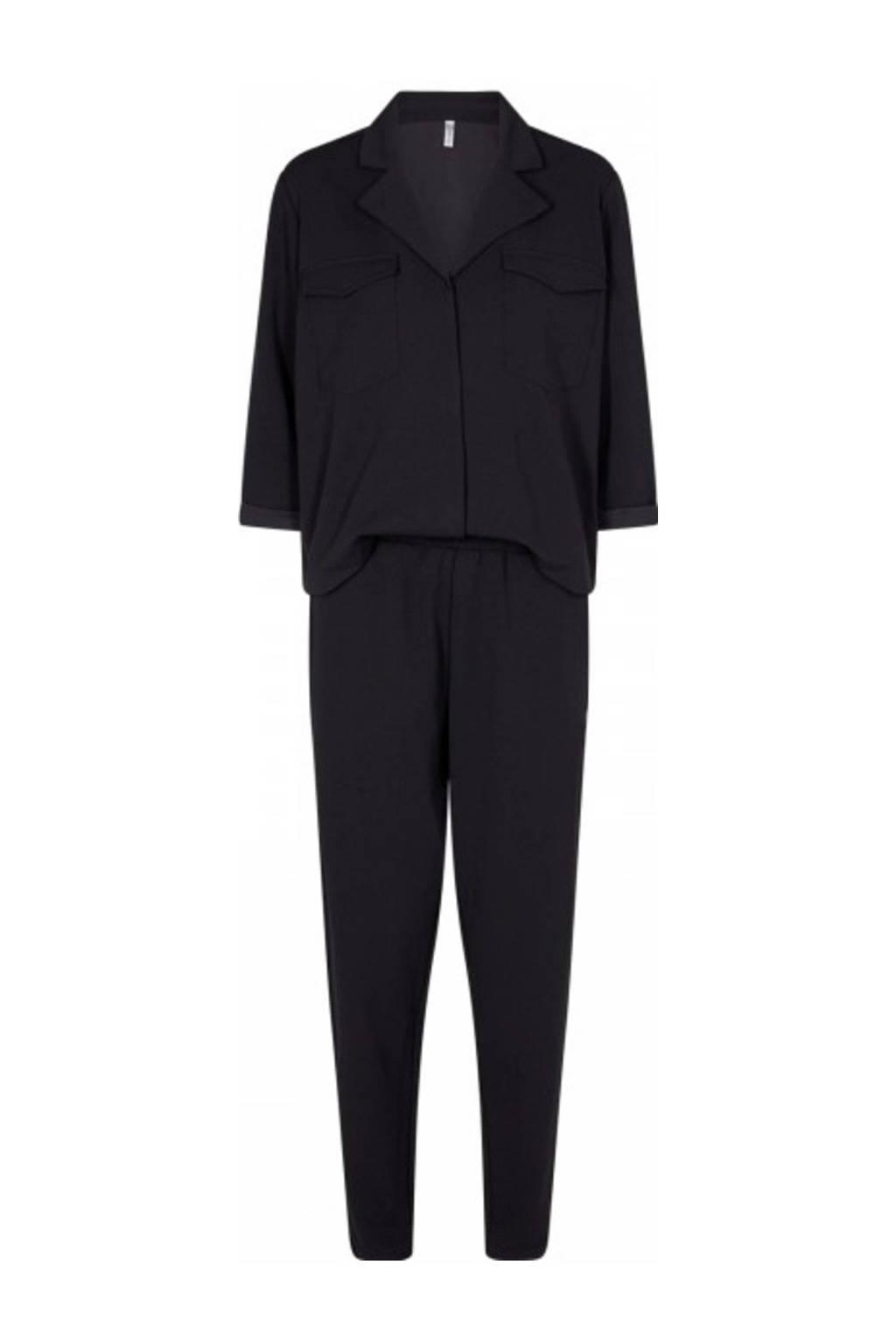 Soyaconcept jumpsuit Mascha van gerecycled polyester zwart, Zwart