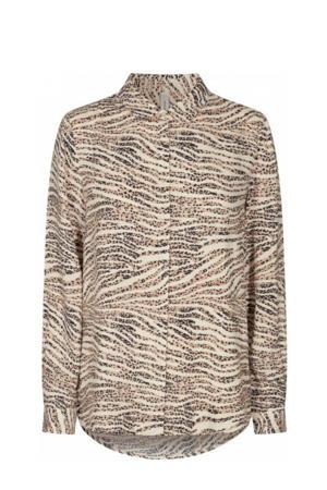 blouse SC-NIKOLA 1 met all over print zand
