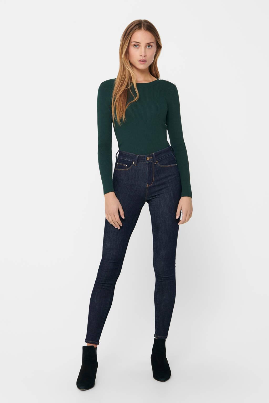 ONLY high waist skinny jeans Hush donkerblauw, Donkerblauw