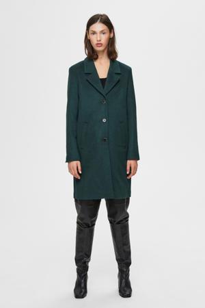 coat winter met wol groen