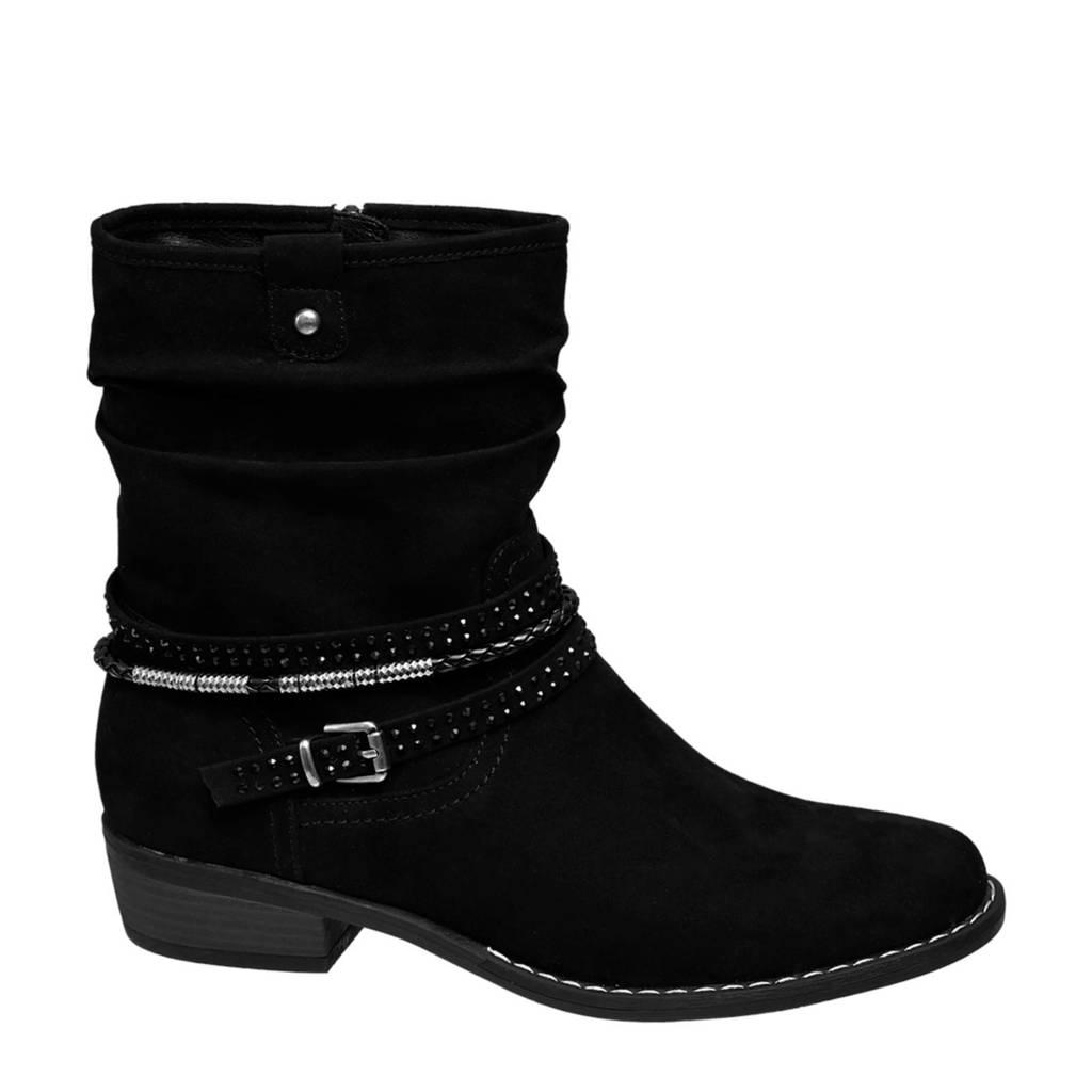 Graceland   enkellaarzen zwart, Zwart