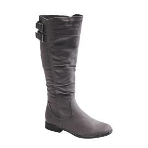 laarzen met siergesp grijs