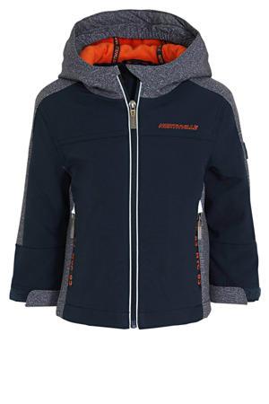 softshell jas donkerblauw/oranje