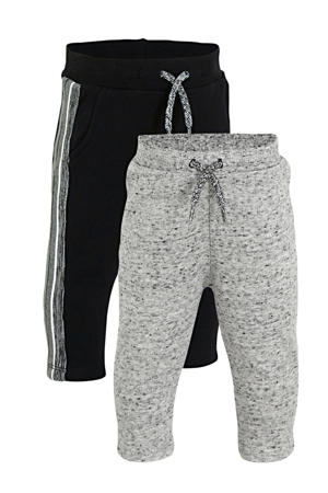 joggingbroek - set van 2 grijs/zwart