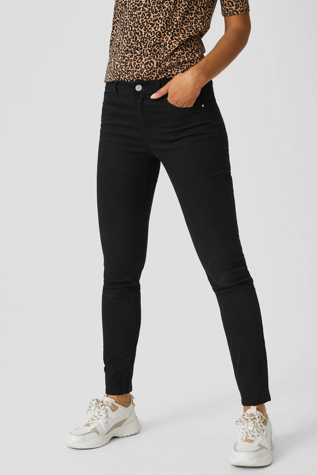 C&A Yessica skinny jeans antraciet, Antraciet