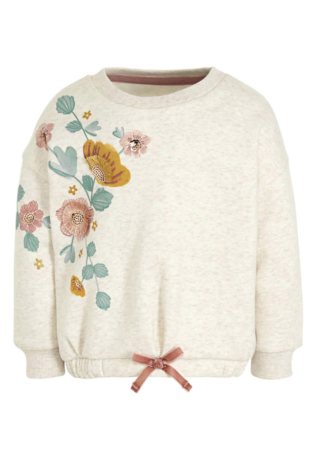 C&A gebloemde sweater ecru, Ecru