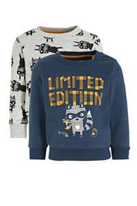 C&A sweater - set van 2 blauw/grijs, Blauw/grijs