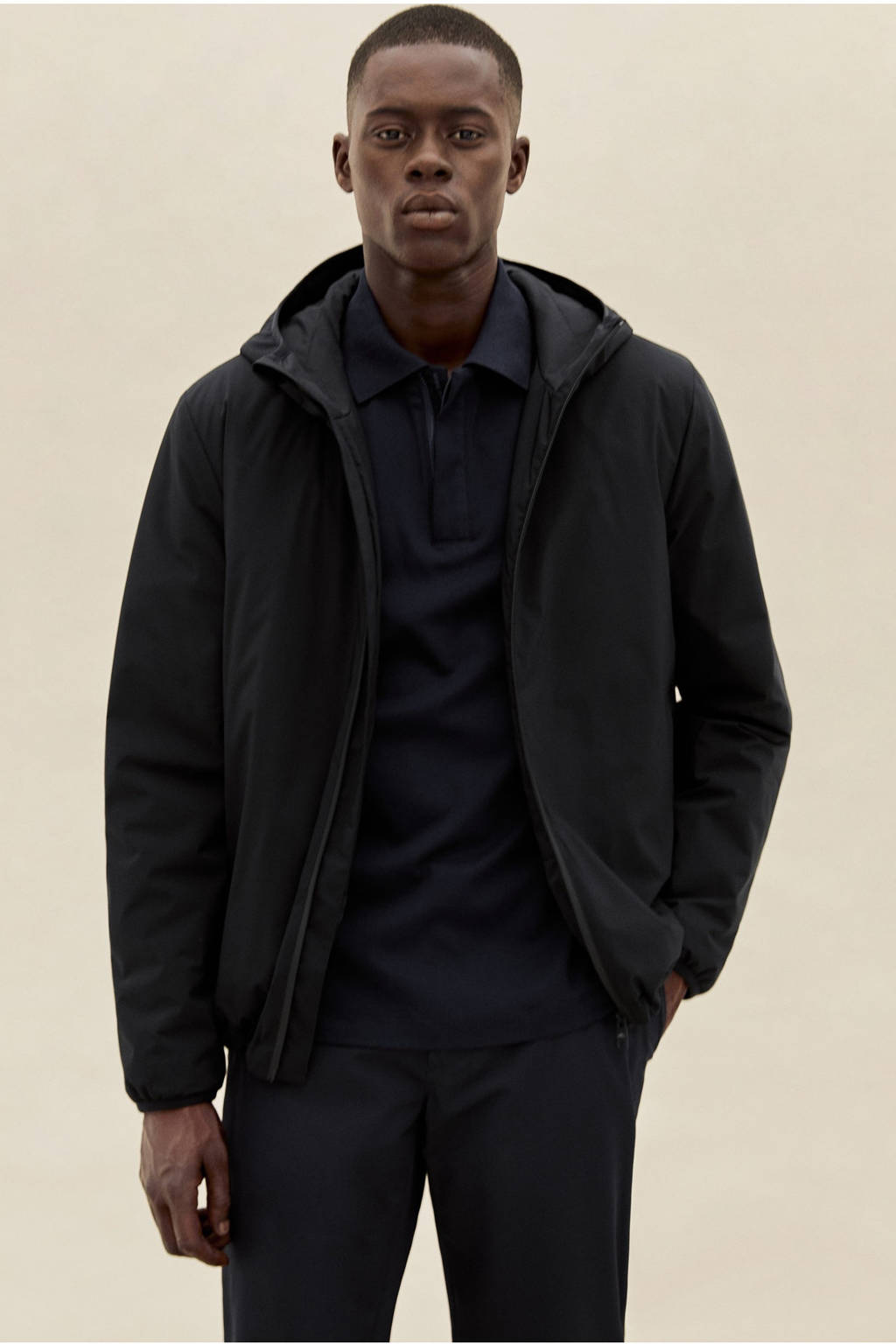 Mango Man jack zwart, Zwart