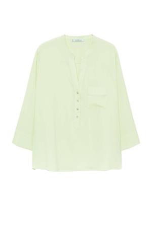 top van gerecycled polyester groen