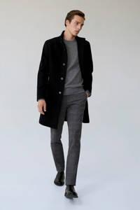 Mango Man jas met wol zwart, Zwart