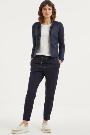coated jasje donkerblauw