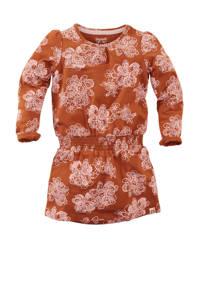 Z8 jurk Katherine met all over print roestbruin/lichtroze, Roestbruin/lichtroze