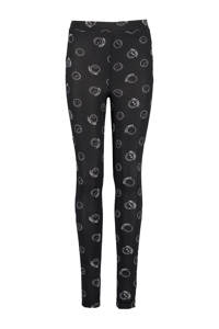 America Today Junior legging Ciara met all over print zwart/wit, Zwart/wit