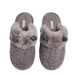 pantoffels Cat met imitatiebont grijs