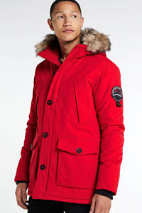Superdry parka jas Everest rood, Rood