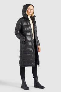 Khujo gewatteerde jas Feodora zwart, Zwart