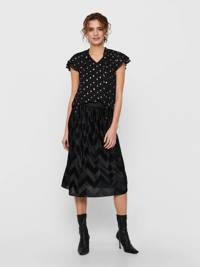 JACQUELINE DE YONG plissérok rok zwart, Zwart