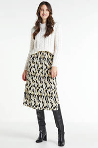 Another-Label rok Demi met all over print beige, Beige