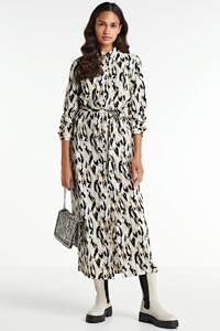 Another-Label blousejurk Adeleide met all over print en ceintuur beige, Beige
