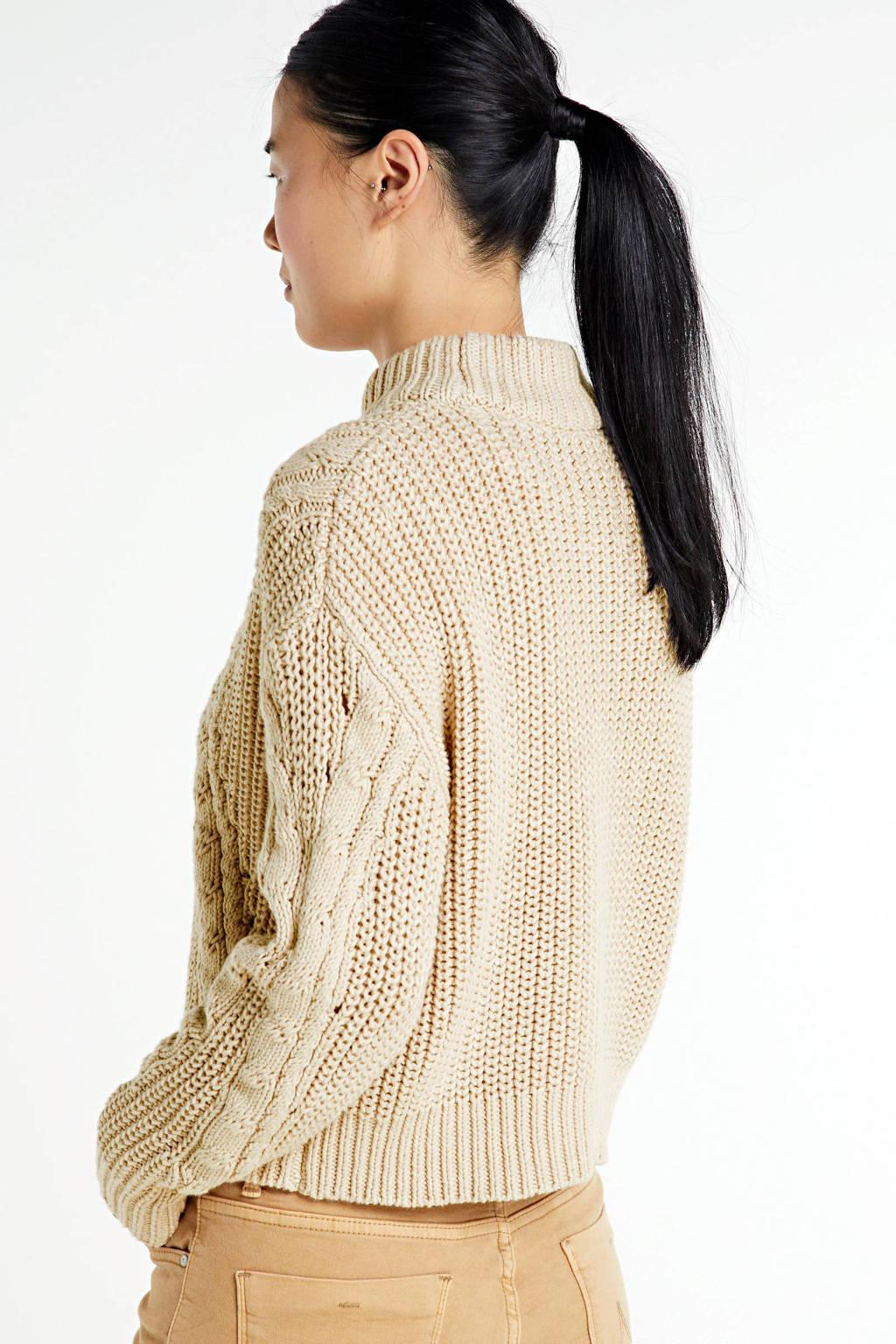 Another-Label grofgebreide trui Danni beige, Beige