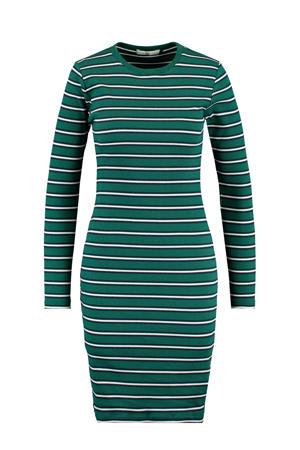 gestreepte jurk groen/wit