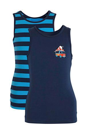 hemd - set van 2 blauw/donkerblauw