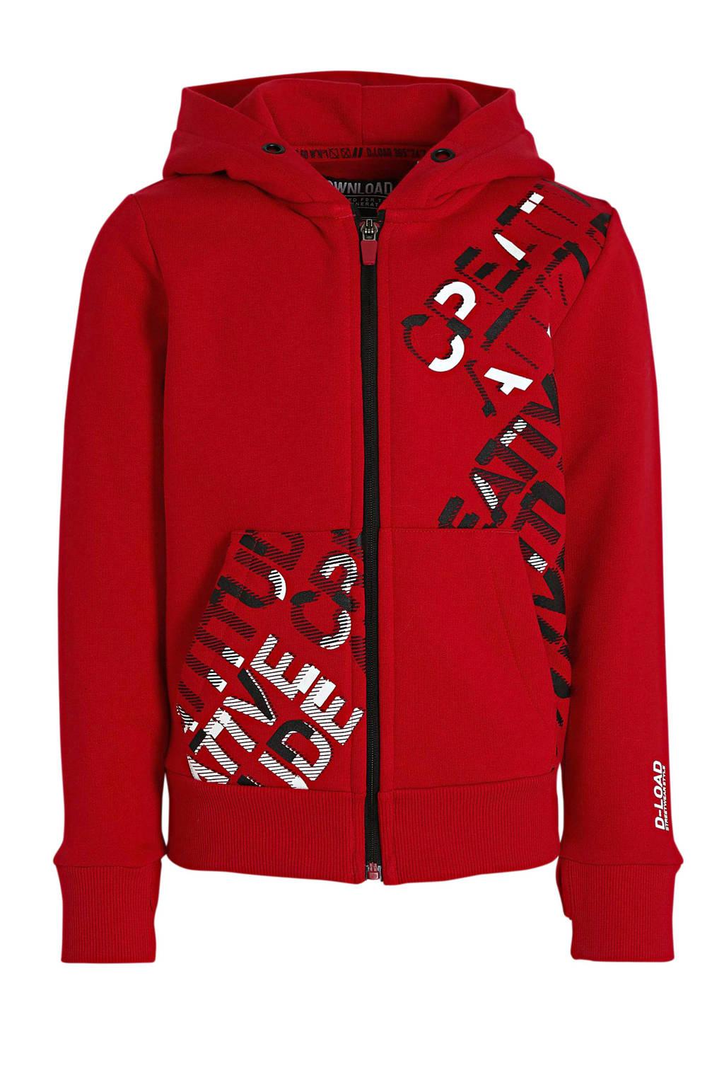 C&A vest met tekst rood, Rood