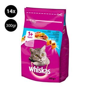1+Tonijn Droog kattenvoer - 14x 300 g