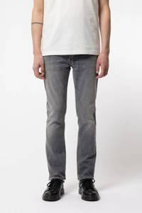 Nudie Jeans slim fit jeans Grim Tim grijs, Grijs
