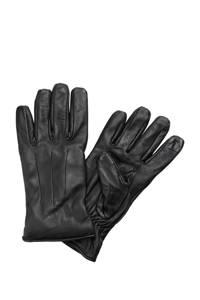 JACK & JONES leren handschoenen JACMONTANA zwart, Zwart