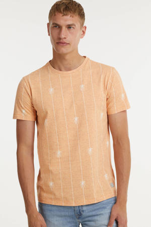T-shirt met all over print muskmelon