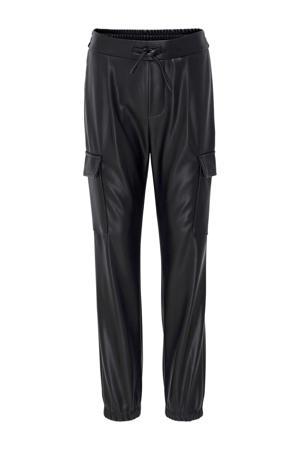 coated regular fit cargobroek Poptrash zwart