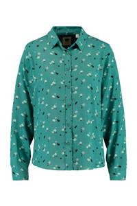 America Today gebloemde blouse Britt sea green, Sea Green