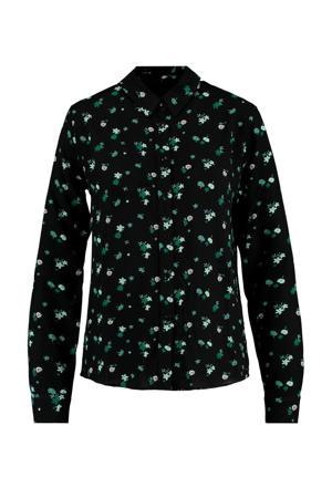 gebloemde blouse Britt black/green