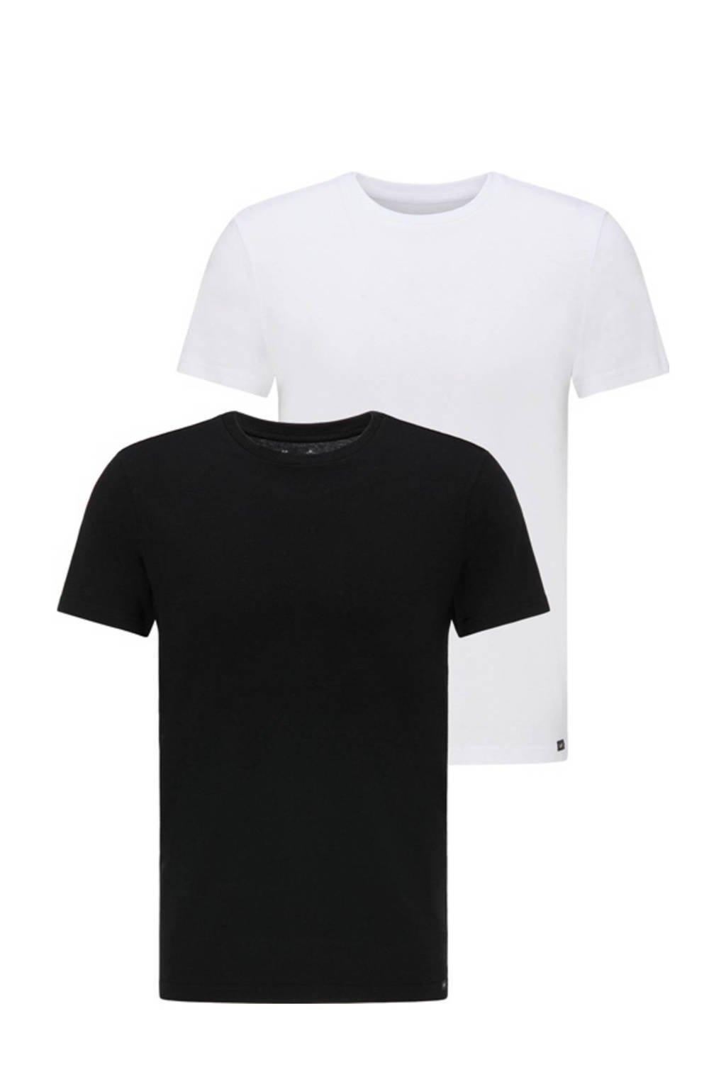 Lee T-shirt (set van 2 ) zwart/wit, Zwart/wit
