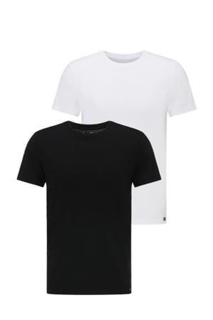 T-shirt (set van 2 ) zwart/wit