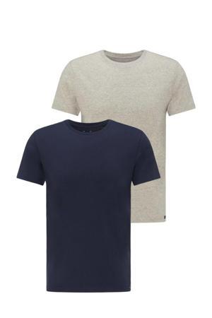 T-shirt (set van 2 ) grijs/blauw