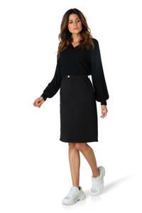 Ivy Beau trui met textuur zwart, Zwart