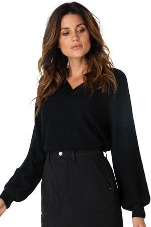 trui met textuur zwart