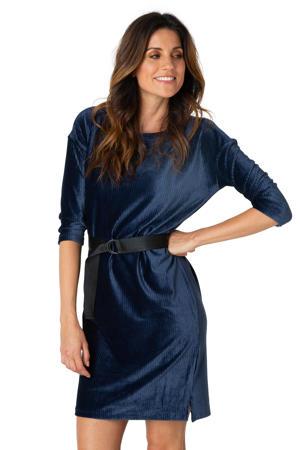 corduroy jurk met ceintuur donkerblauw/zwart