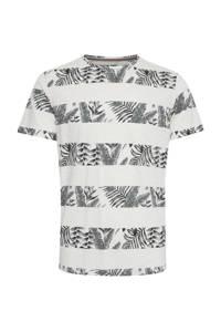 Blend gestreept T-shirt wit/grijs, Wit/grijs