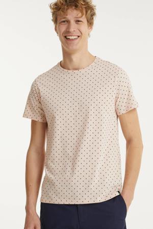 T-shirt van biologisch katoen peach whip